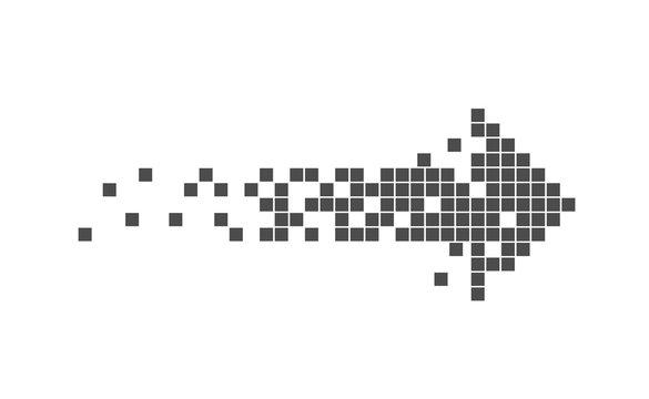 Pixel Arrow sign