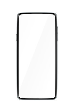 Front view of smartphone with blank display