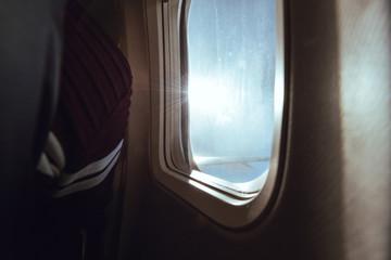 View through the plane window