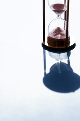 Hourglass Against Sunlight