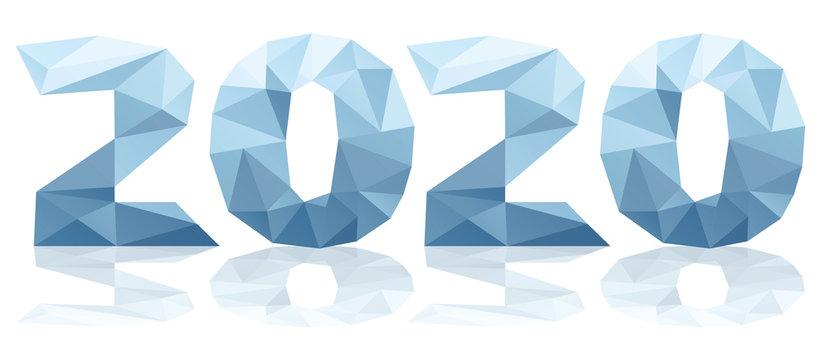 2020 polygones bleu vecteurs