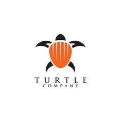 Turtle logo design vector template