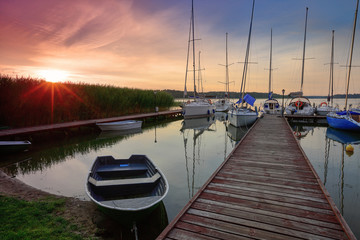 Fototapete - A summer morning in Masuria in north-eastern Poland