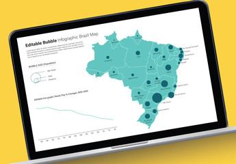 Editable Brazil Map Infographic