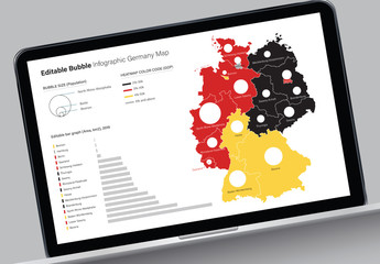 Editable Germany Map Infographic