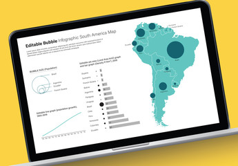 Editable South America Map Infographic