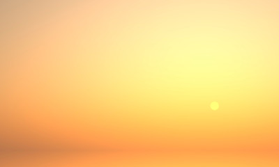 abstract sunset with orange sky - Illustration