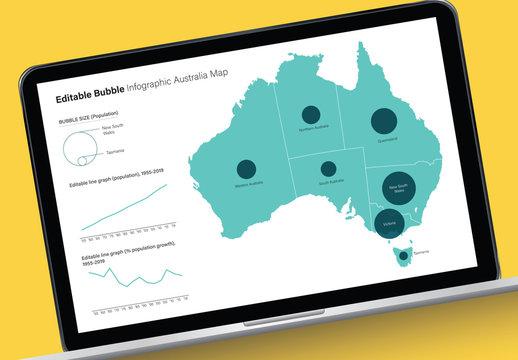 Editable Australia Map Infographic