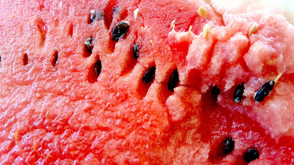 watermelon with seeds, texture, close up
