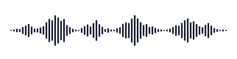Black waves as equalizer isolated on black background. Vector Illustration