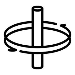 Fototapeta Rotation around axis icon. Outline rotation around axis vector icon for web design isolated on white background