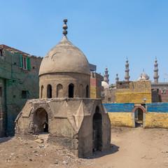 Ruins of Mausoleum of Sidi Al Komi, Darb el Labbana district, Old Cairo, Egypt
