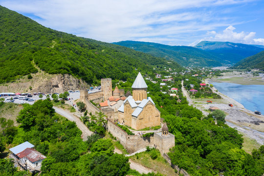 Ananuri is a castle complex on the Aragvi River in Georgia. Ananuri Castle is located about 70 kilometres from Tbilisi.