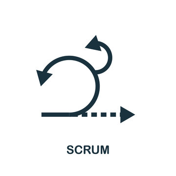 Scrum vector icon symbol. Creative sign from agile icons collection. Filled flat Scrum icon for computer and mobile