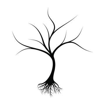 dead tree design vector illustration