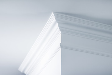 Molding on ceiling detail, interior design and architectural abstract background