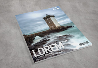 Mockup of Magazine Cover