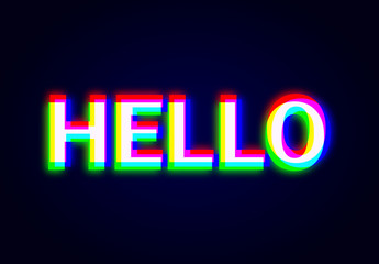Glowing RGB Text Effect