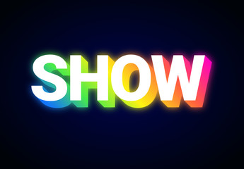 Colorful Glowing Neon Text Effect