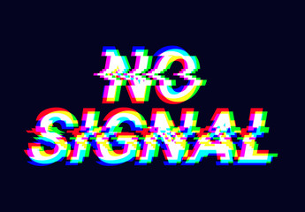 Signal Error Distorted Text Effect