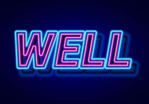Glowing Double Neon Text Effect