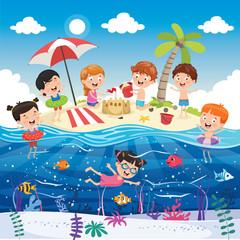 Vector Illustration Of Summer Holiday