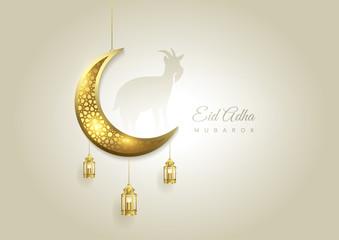 Obraz Eid Al Adha Mubarak the celebration of Muslim community festival background - fototapety do salonu