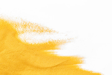 Sand texure for design of blog on white background top view mockup