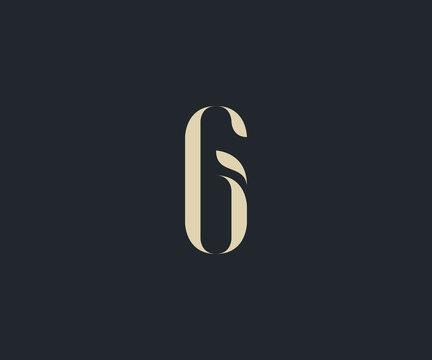 luxury letter G initial  logo design element