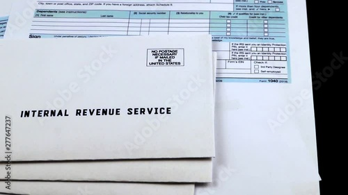 Three mails from the Internal Revenue Service on 1040