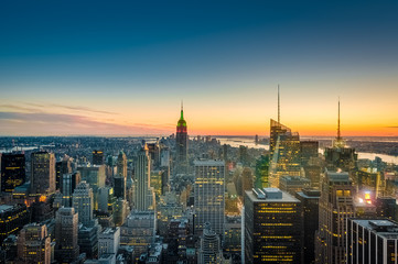 Downtown Manhattan in New York, United States.