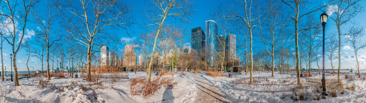 Battery Park in New York, United States of America.