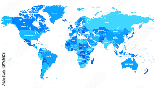 Highly detailed vector illustration of world map ...