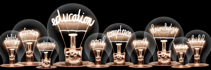 Light Bulbs Concept Wall mural