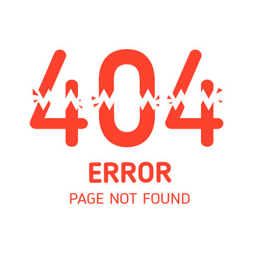 404  error page not found lacking with white background  design template for website background graphic