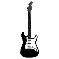 Electric guitar. Vector image on white background.