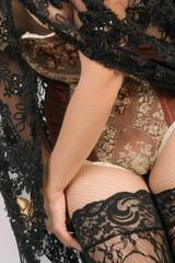 Corset lacing, detail, close-up