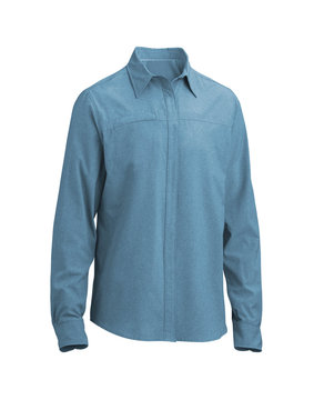 blue jean male shirt isolated