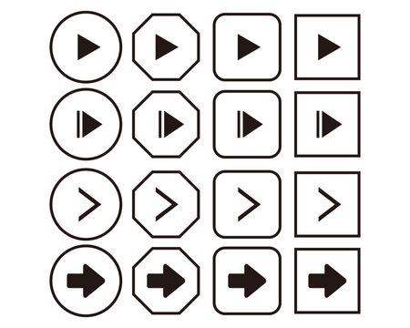 矢印 アイコン 矢 再生 再生ボタン