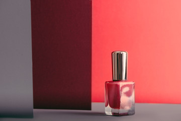 nail polish bottle living coral color