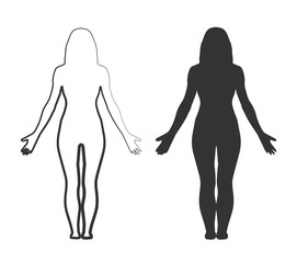 Woman Body Silhouette Shape Isolated