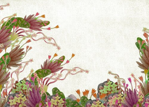 Colorful abstract flowers and nature background
