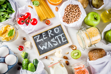 Zero waste shopping concept