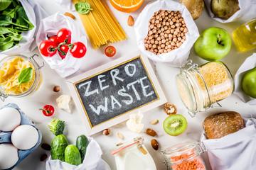 Zero waste shopping concept