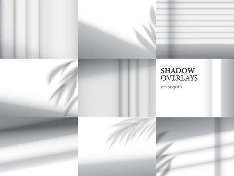 Shadow overlays for mockups