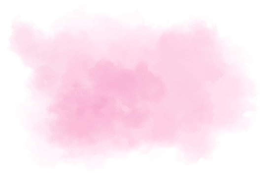 Red, pink watercolor background. Abstract vector paint splash, isolated on white backdrop. Aquarelle beautiful texture. Graphic design for your project.