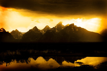 Grand Tetons in Storm