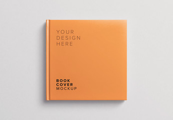 Square Book Cover Mockup