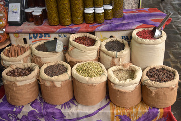 Les épices du marché à l'île Maurice