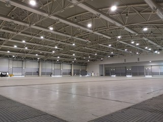 interior empty exhibition hall